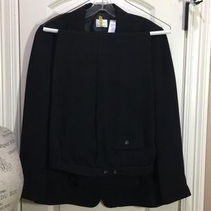 2-pc EMMA JAMES Sz 14 Black, Slacks & Lined Blazer